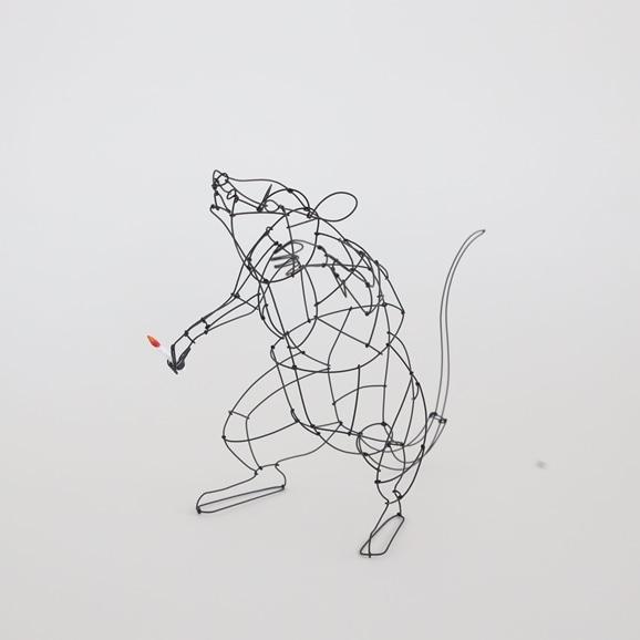 【写真】【一点物】山田一成 「おしゃべりネズミ (ろうそく) A」