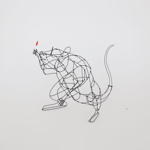 【写真】【一点物】山田一成 「おしゃべりネズミ (ろうそく) C」