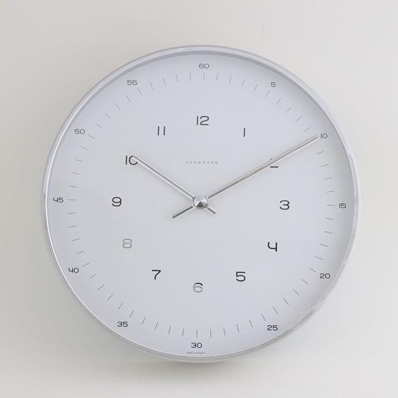 【写真】Max Bill by Junghaus Clock arabic φ300