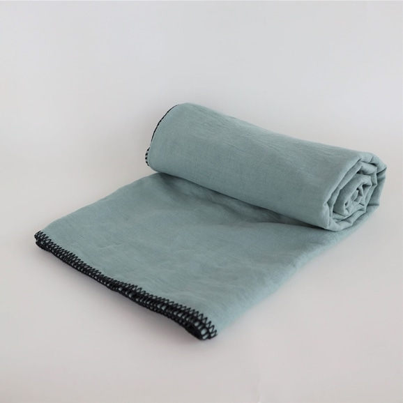 【写真】Harmony textile テーブルクロス 170×250 セラドン