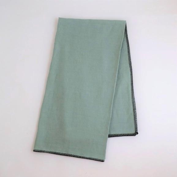 【写真】Harmony textile テーブルクロス 170×170 セラドン