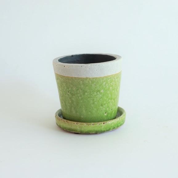 【写真】鉢 クレーパ ポット φ12cm グリーン