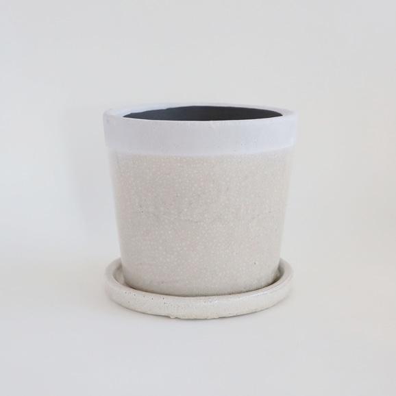 【写真】鉢 クレーパ ポット φ18cm ホワイト