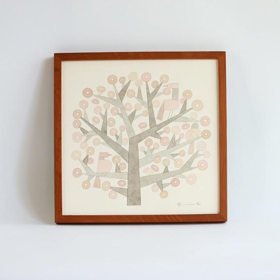 【写真】【一点物】伊藤利江 水彩画30 「Tree 01」