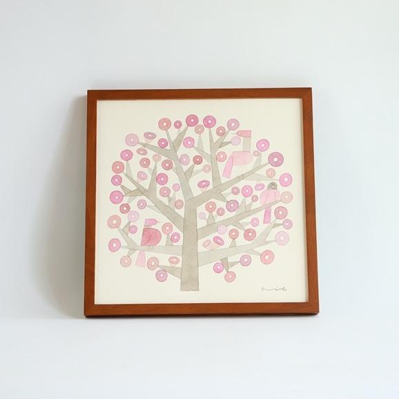 【写真】【一点物】伊藤利江 水彩画30 「Tree 02」