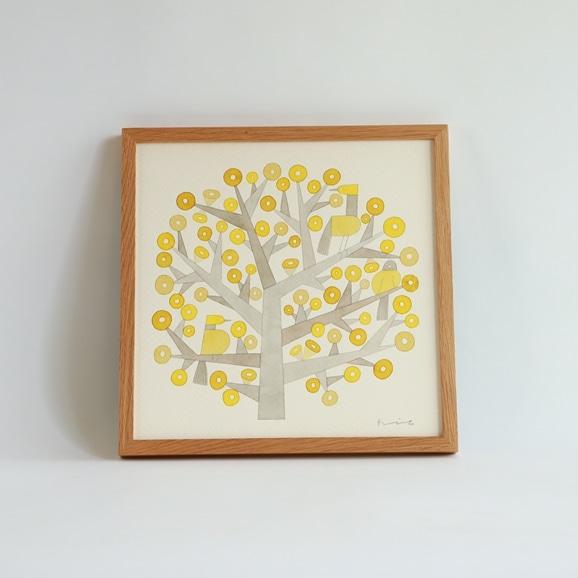 【写真】【一点物】伊藤利江 水彩画30 「Tree 03」