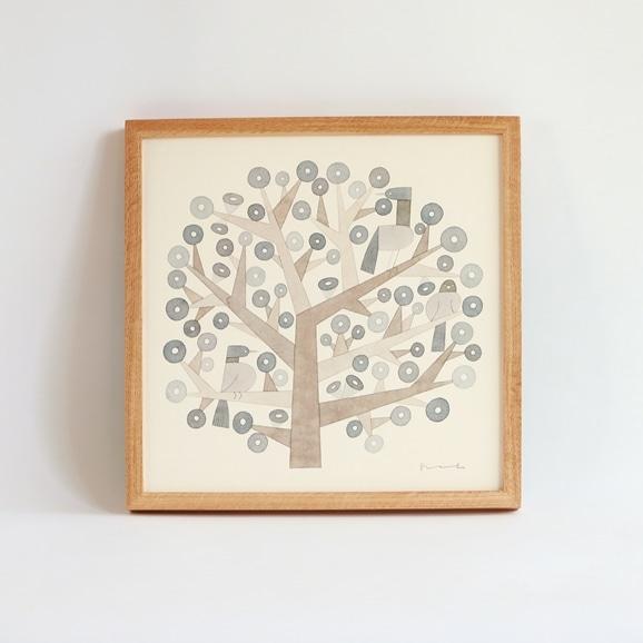 【写真】【一点物】伊藤利江 水彩画30 「Tree 04」