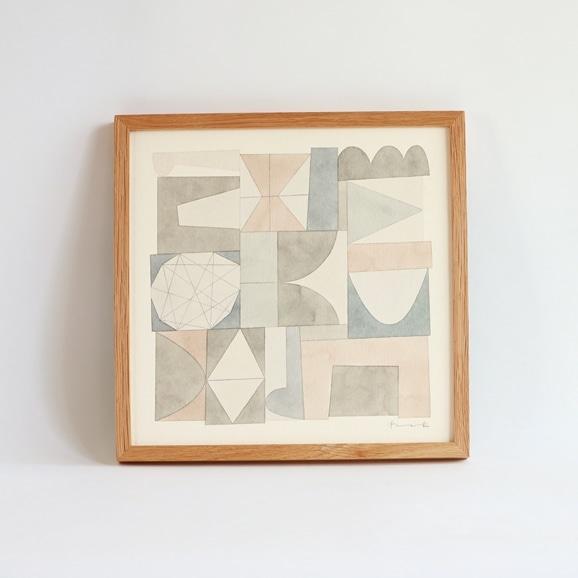 【写真】【一点物】伊藤利江 水彩画30 「Abstract 03」