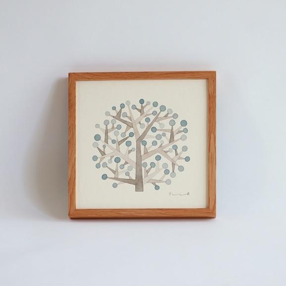 【写真】【一点物】伊藤利江 水彩画20 「Tree 01」