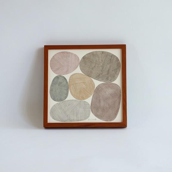 【写真】【一点物】伊藤利江 水彩画20 「Stone 01」