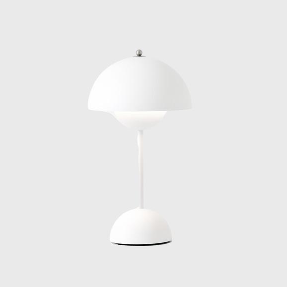 【写真】FLOWERPOT PORTABLE TABLE LAMP VP9 マットホワイト