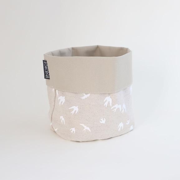 【写真】INDIGI DESIGNS Basket small Birds ホワイト