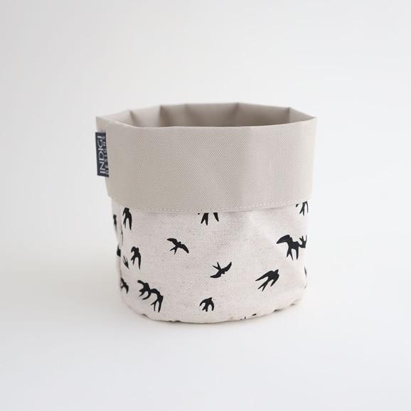 【写真】INDIGI DESIGNS Basket small Birds ブラック