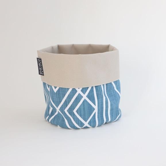 【写真】INDIGI DESIGNS Basket small Deco インダスティアル ブルー