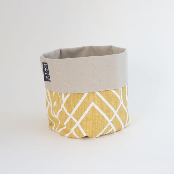 【写真】INDIGI DESIGNS Basket small Deco オーカー