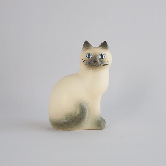 【写真】【定番品】Lisa Larson Cat MANS White Grey Medium