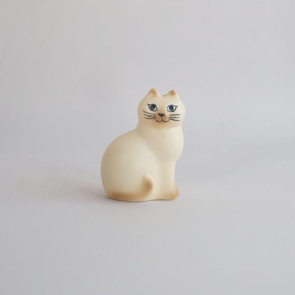 【写真】【定番品】Lisa Larson Cat MANS White Brown Mini