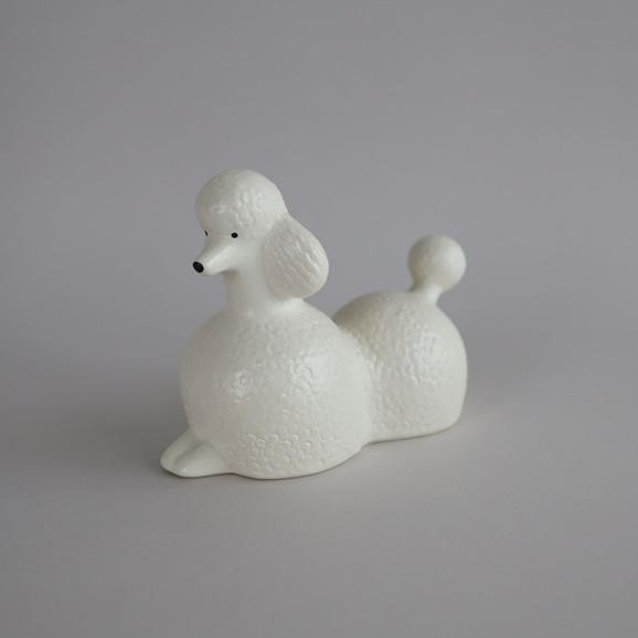 【写真】【定番品】Lisa Larson Poodle White Medium