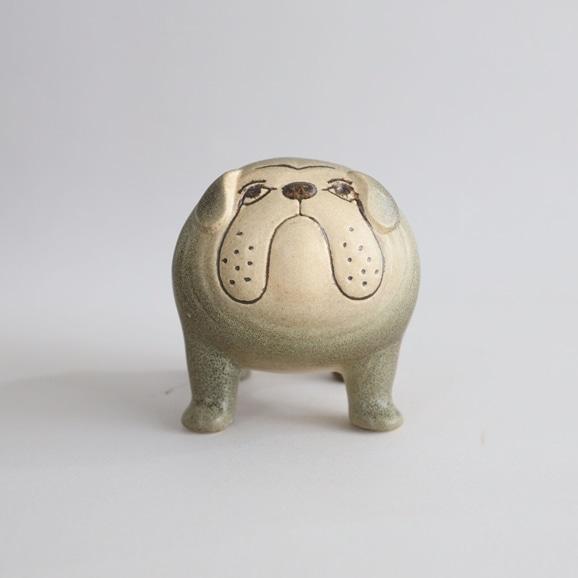 【写真】【定番品】Lisa Larson Bulldog Medium Grey