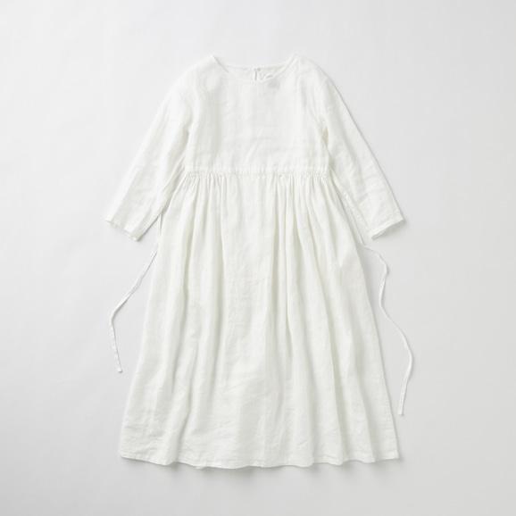 【写真】POOL いろいろの服 ギャザーワンピース ホワイト 2020AW