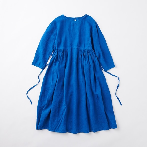 【写真】POOL いろいろの服 ギャザーワンピース ロイヤルブルー 2020AW