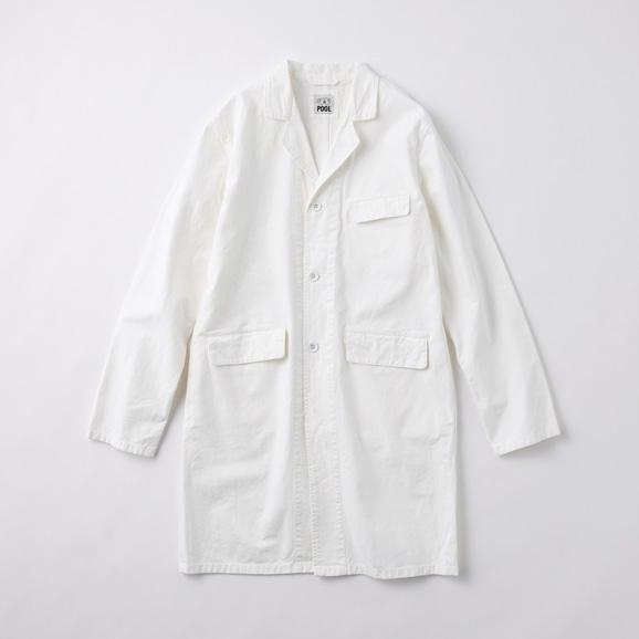 【写真】POOL いろいろの服 コットンアトリエコート ホワイト 2020AW【COAT COLLECTION】