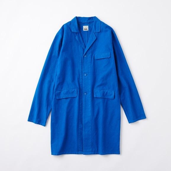 【写真】POOL いろいろの服 コットンアトリエコート ロイヤルブルー 2020AW【COAT COLLECTION】