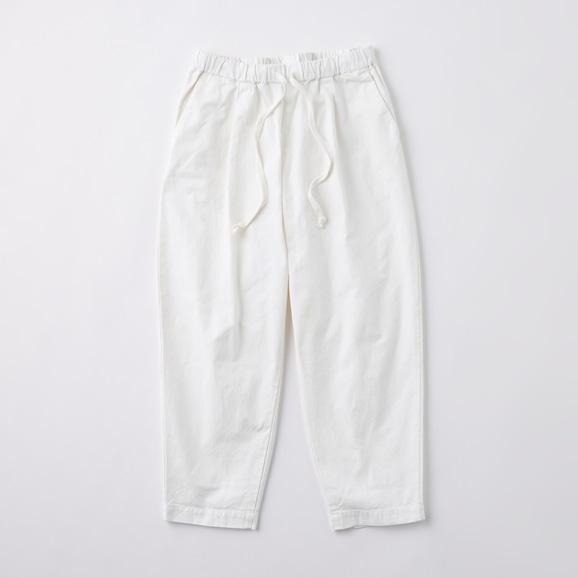 【写真】POOL いろいろの服 コットンテーパードパンツ M ホワイト 2020AW