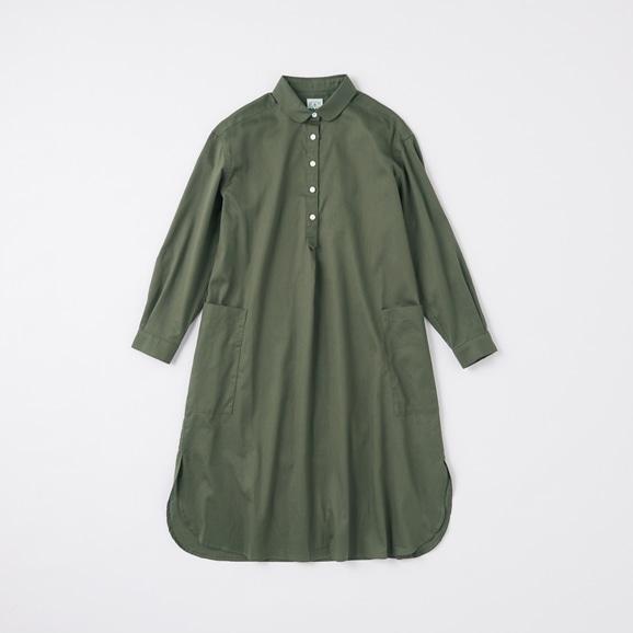 【写真】POOL いろいろの服 コットンツイルシャツワンピース チャコール 2020AW