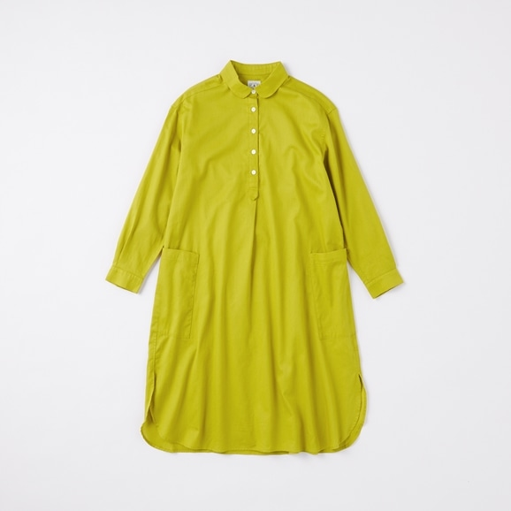 【写真】POOL いろいろの服 コットンツイルシャツワンピース イエローグリーン 2020AW