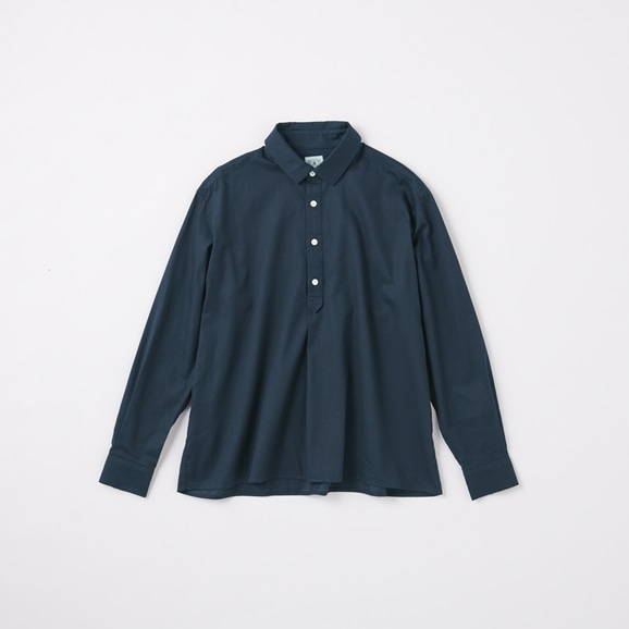 【写真】POOL いろいろの服 コットンツイルシャツ ネイビー 2020AW