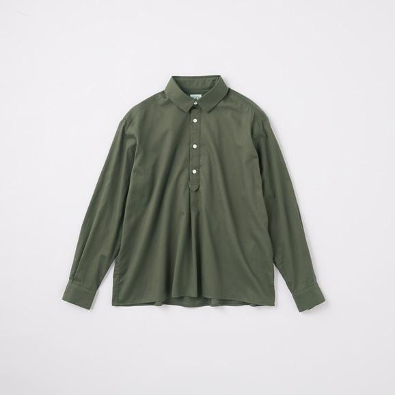 【写真】POOL いろいろの服 コットンツイルシャツ チャコール 2020AW