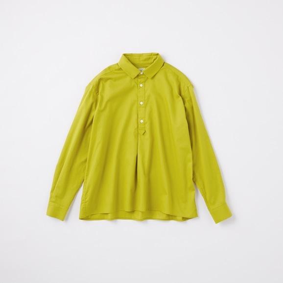 【写真】POOL いろいろの服 コットンツイルシャツ イエローグリーン 2020AW