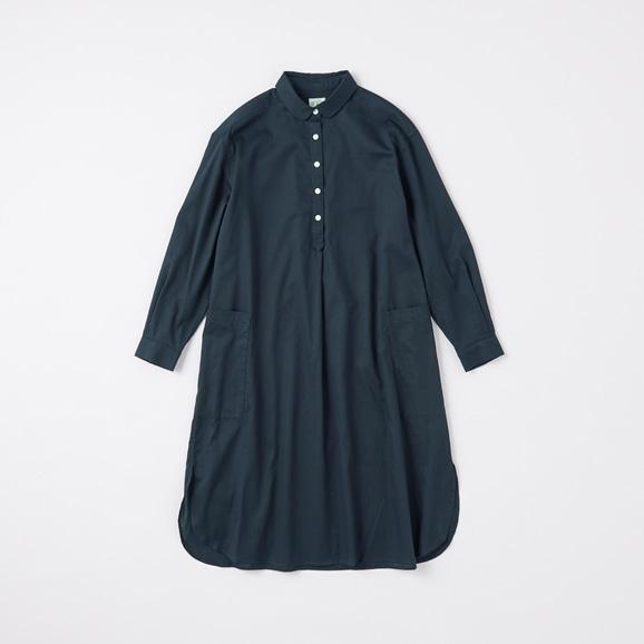 【写真】POOL いろいろの服 コットンツイルシャツワンピース ネイビー 2020AW