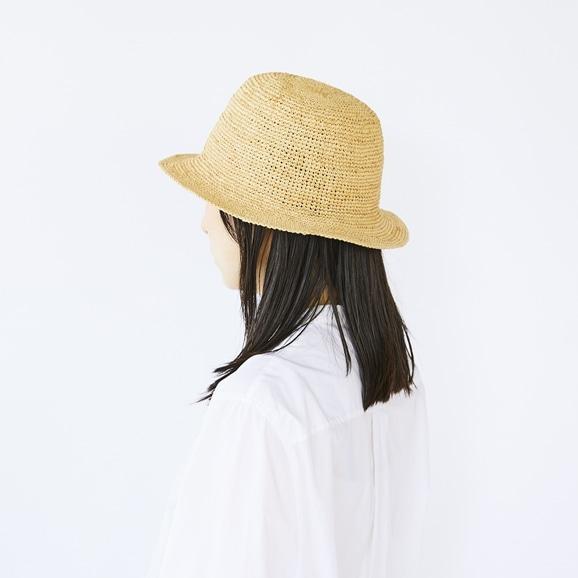 【写真】ラフィアハット シンプル