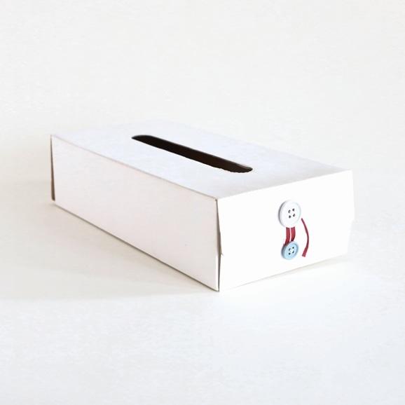 【写真】Button Tissue Box ホワイト
