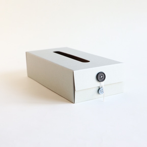 【写真】Button Tissue Box グレー