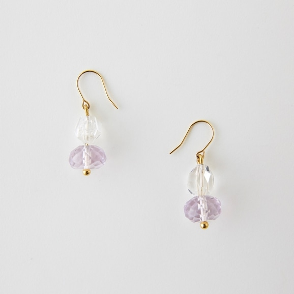 【写真】sai Pierce Pink Amethyst & Harkimer Diamond