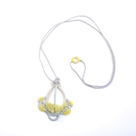 【写真】shingo matsushita Long Necklace Silver×Yellow