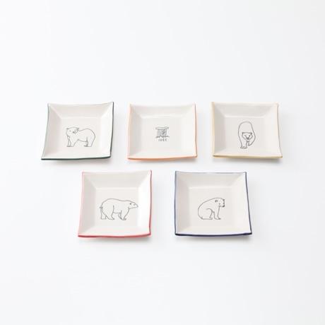 【写真】30★AMETSUCHI 小皿5枚セット シロクマ