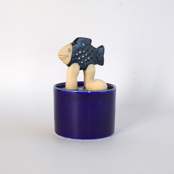 【写真】【定番品】Lisa Larson Jar with Lid man & fish