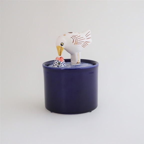 【写真】【定番品】Lisa Larson Jar with Lid bird & fish