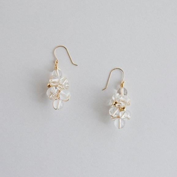 【写真】asumi bijoux asatsuyu pierce crystal