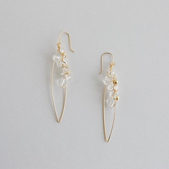 【写真】asumi bijoux asatsuyu hoop pierce crystal