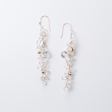 【写真】asumi bijoux asatsuyu long pierce crystal