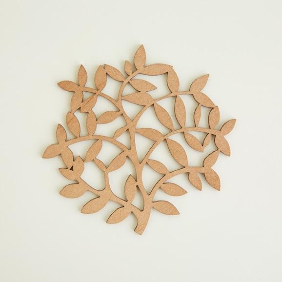 【写真】木製コースター branch