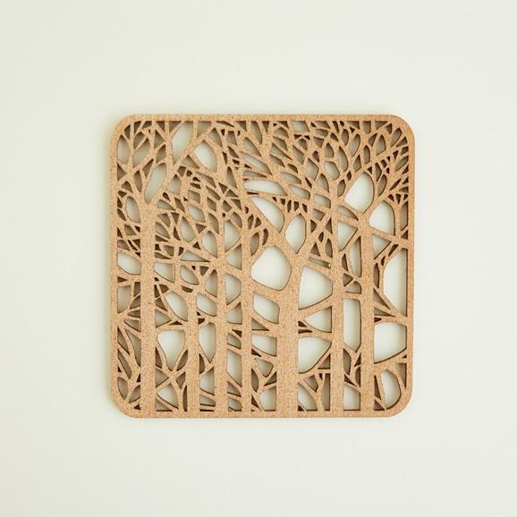 【写真】木製コースター forest