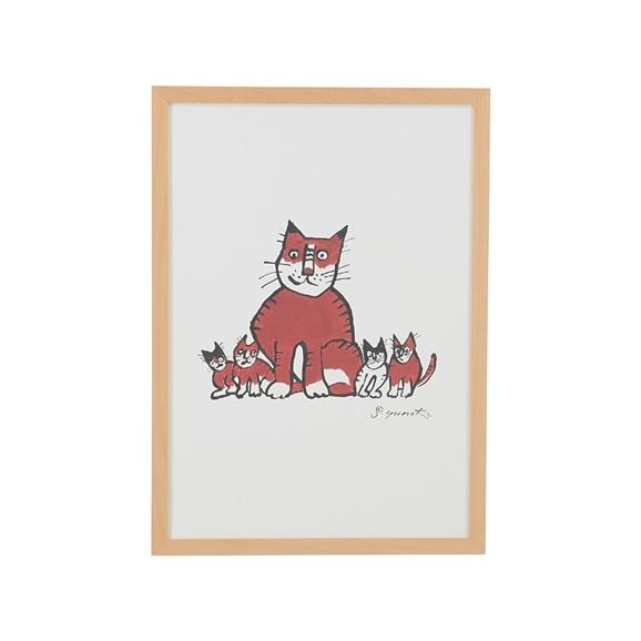 【写真】柚木沙弥郎 「親猫子猫」