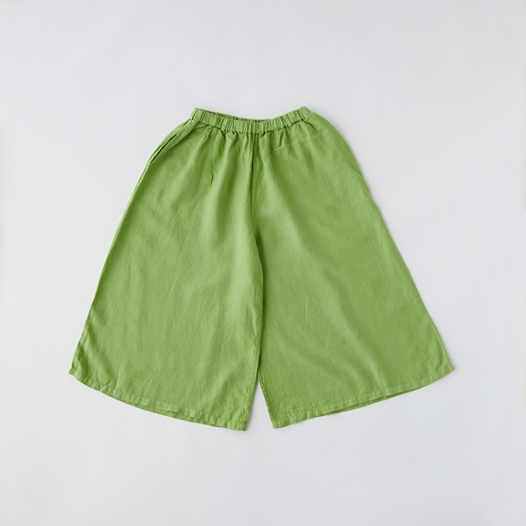 【写真】POOL いろいろの服 ワイドパンツ ライムグリーン