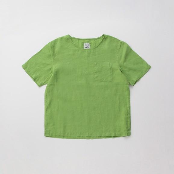 【写真】【Archive】POOL いろいろの服 ポケットTシャツ ライムグリーン